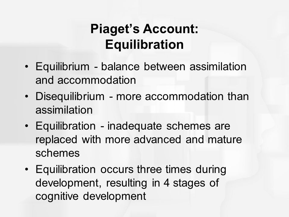 Piaget's Account: Equilibration