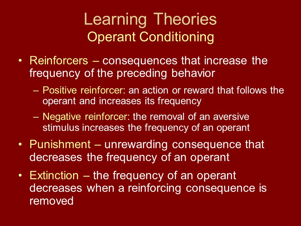 Learning Theories Operant Conditioning