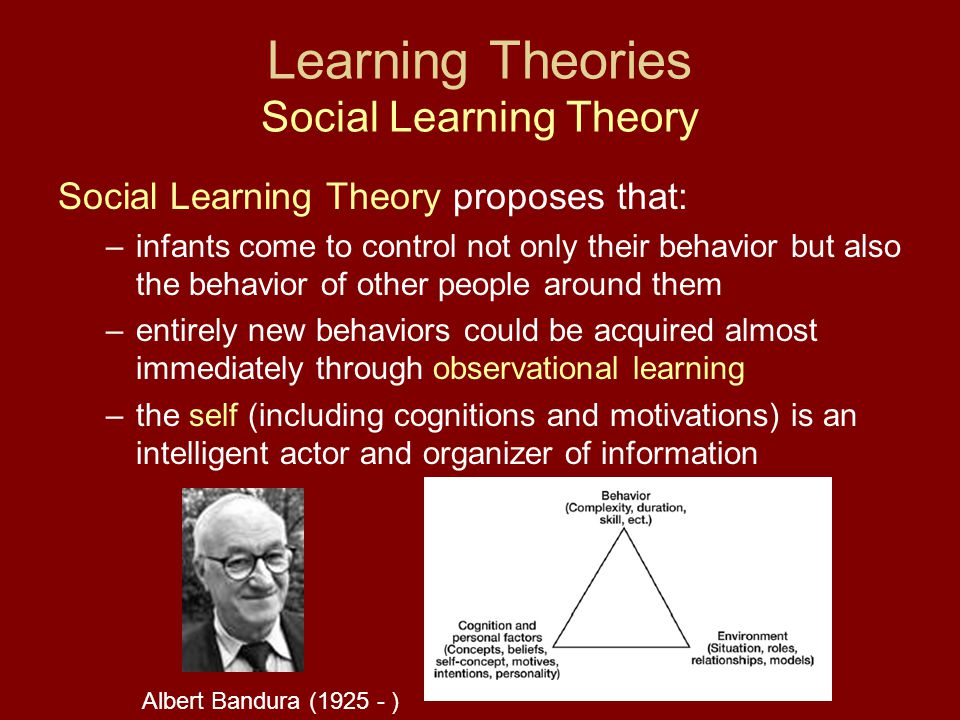 Learning Theories Social Learning Theory