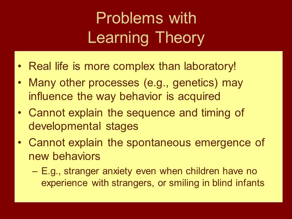 Problems with Learning Theory