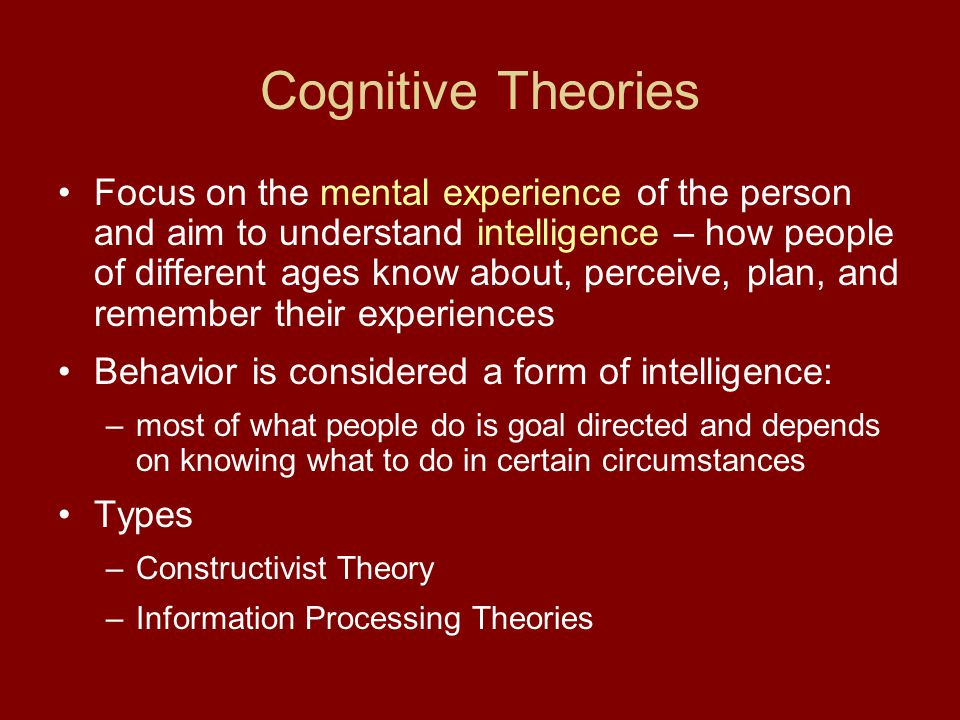 Cognitive Theories