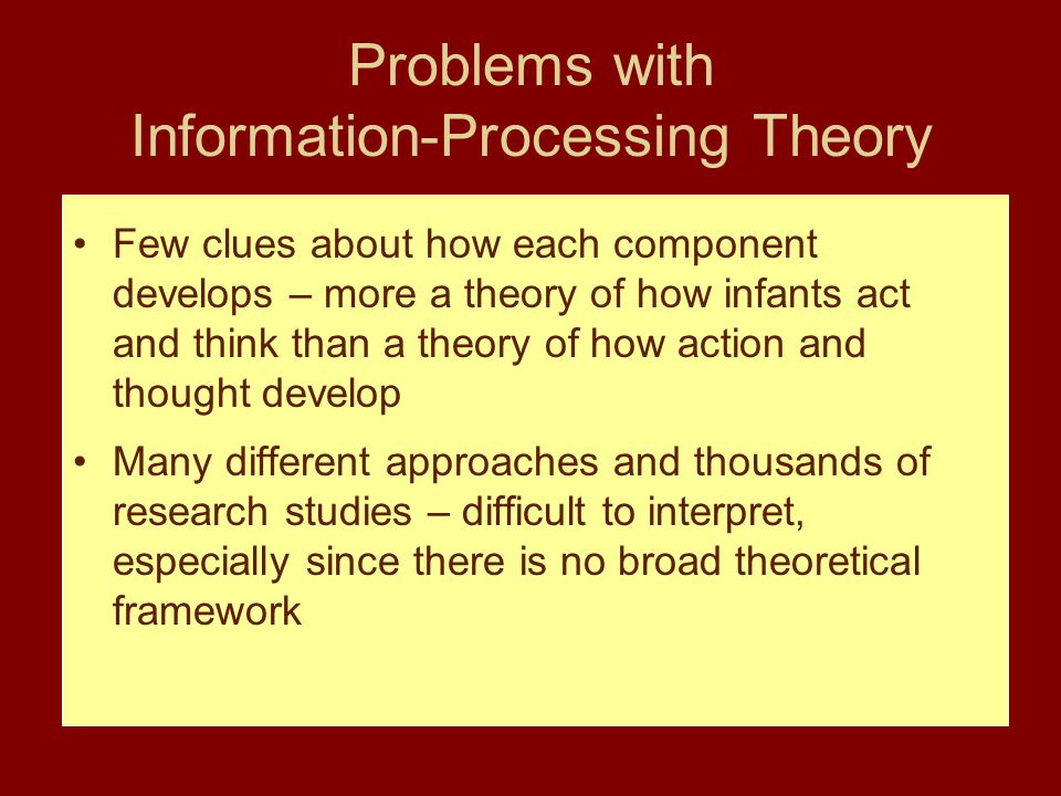 Problems with Information-Processing Theory