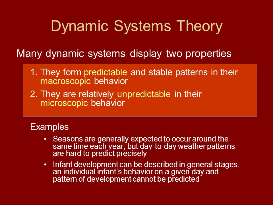 Dynamic Systems Theory