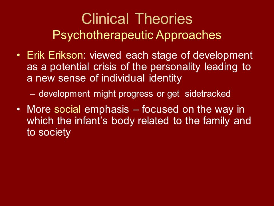 Clinical Theories Psychotherapeutic Approaches