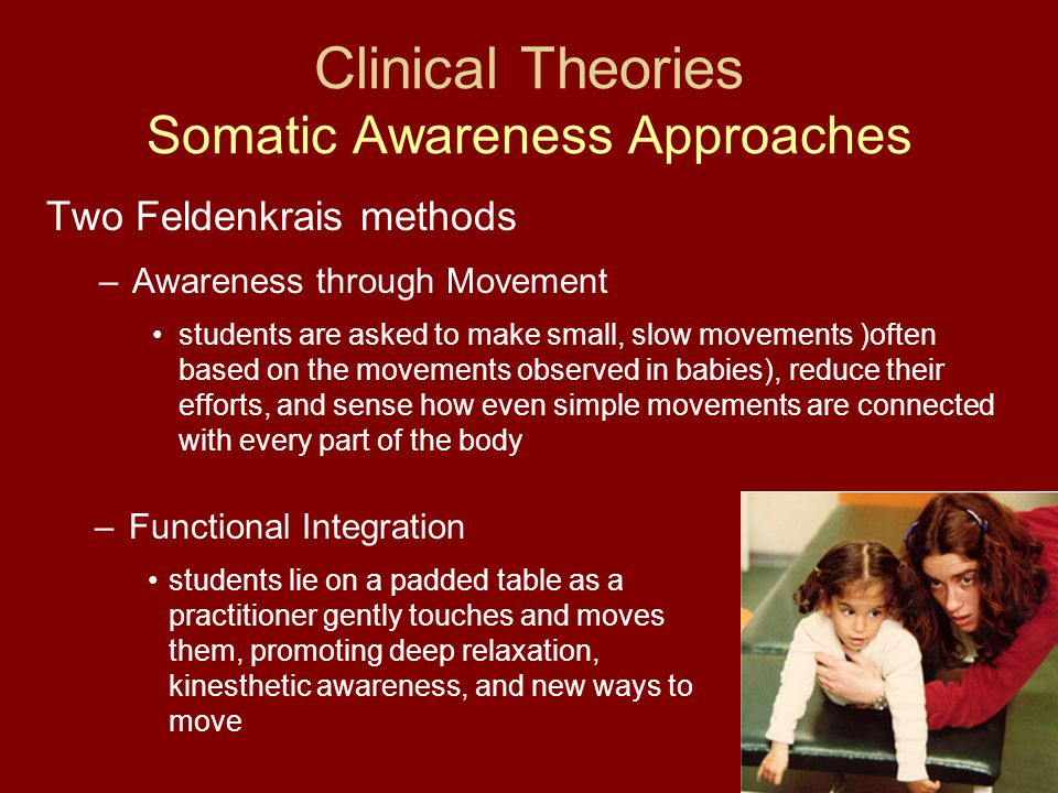 Clinical Theories Somatic Awareness Approaches
