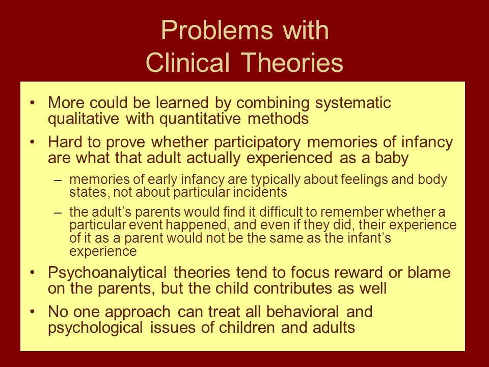 Problems with Clinical Theories
