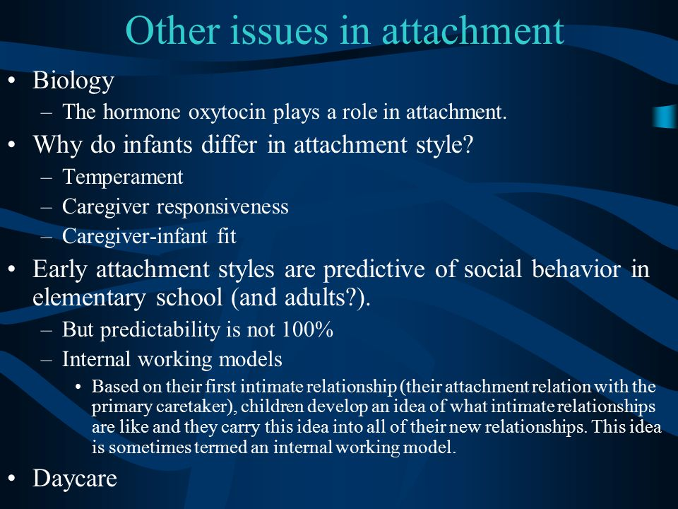 Other issues in attachment