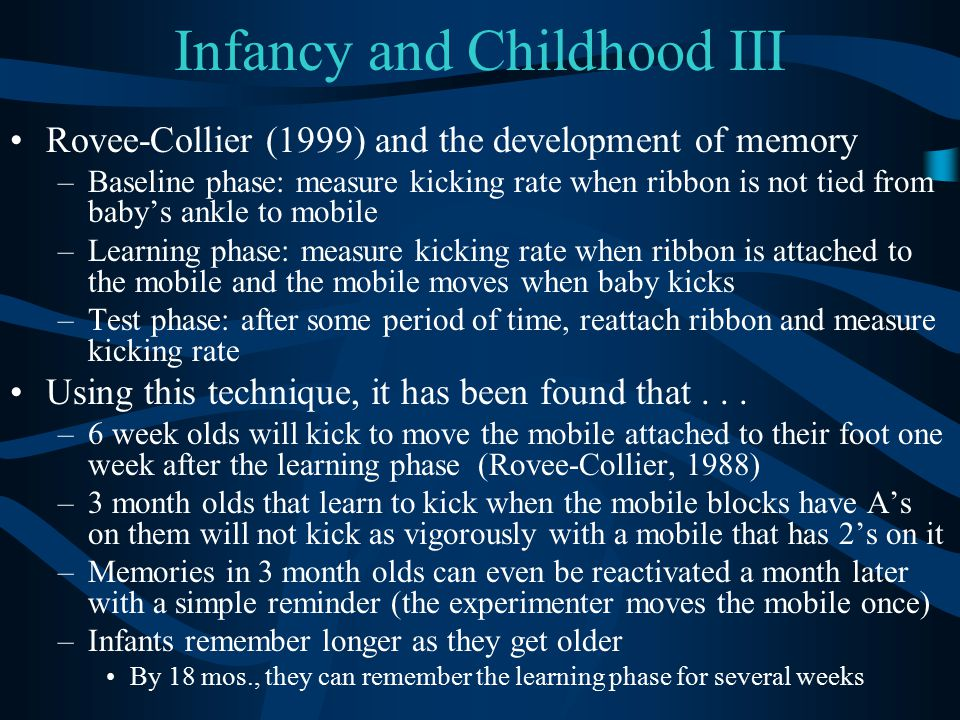 Infancy and Childhood III