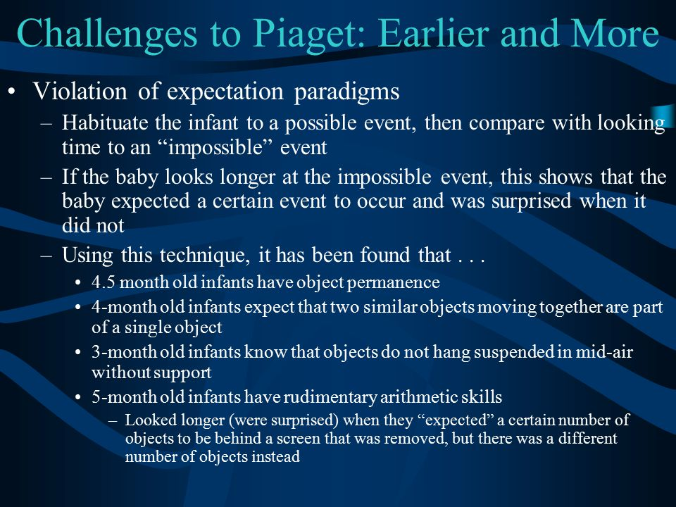 Challenges to Piaget: Earlier and More