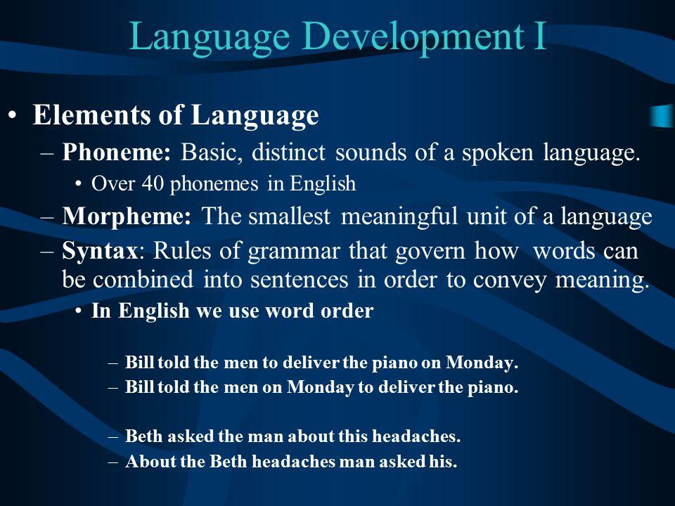 Language Development I