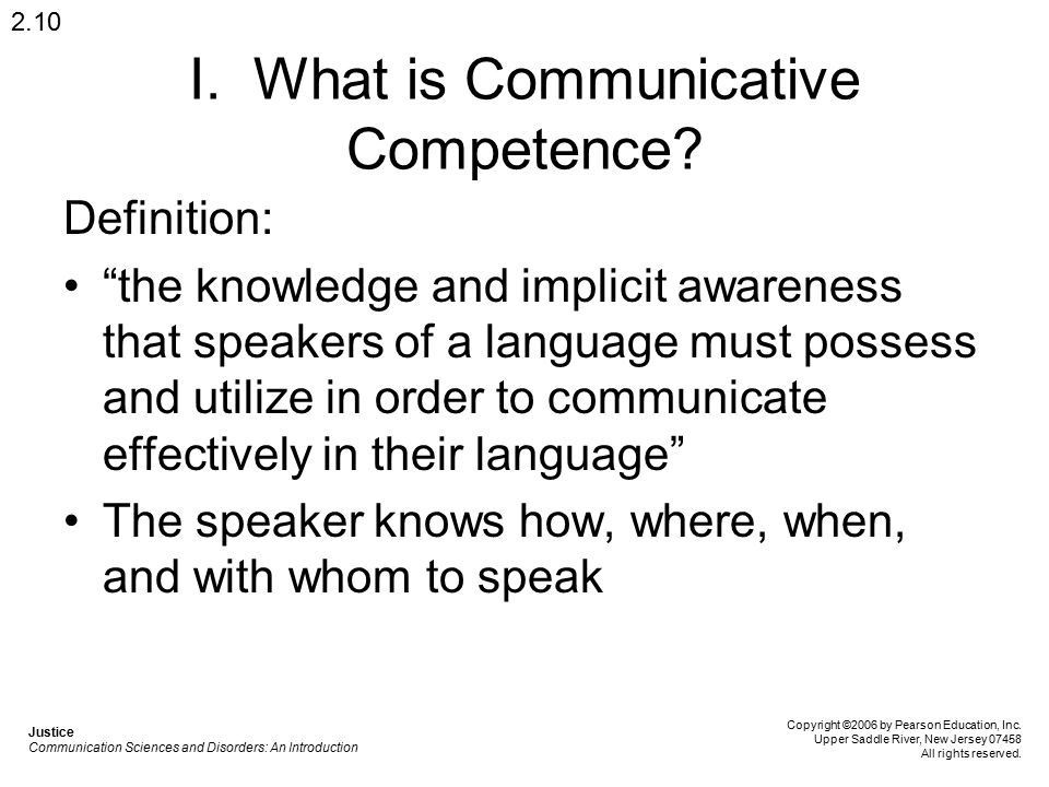 I. What is Communicative Competence