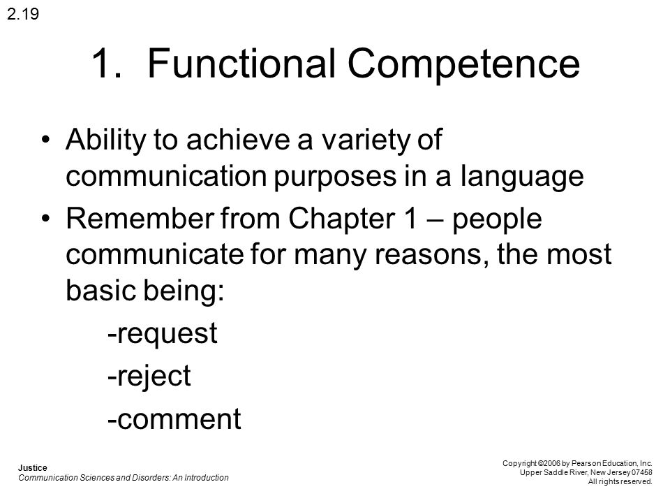 1. Functional Competence