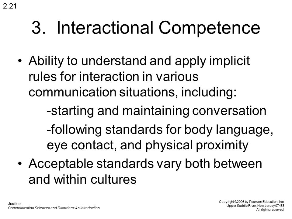 3. Interactional Competence