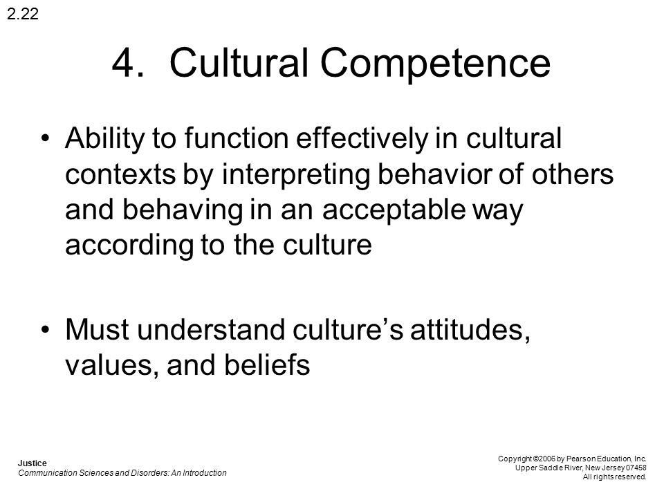 2.22 4. Cultural Competence.