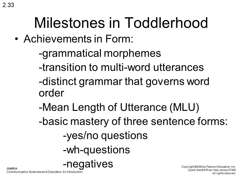Milestones in Toddlerhood
