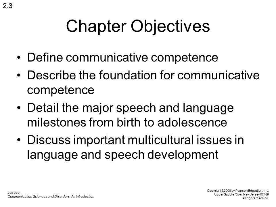 Chapter Objectives Define communicative competence