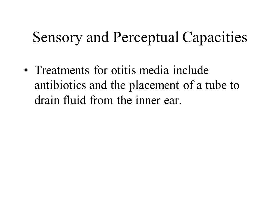 Sensory and Perceptual Capacities
