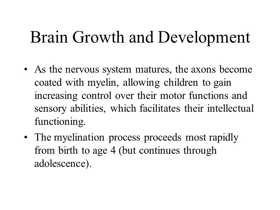 Brain Growth and Development