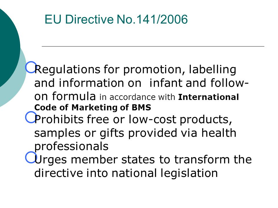 EU Directive No.141/2006
