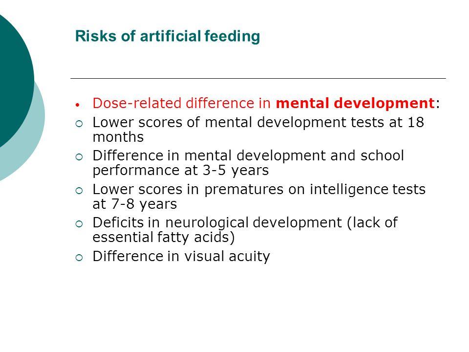 Risks of artificial feeding