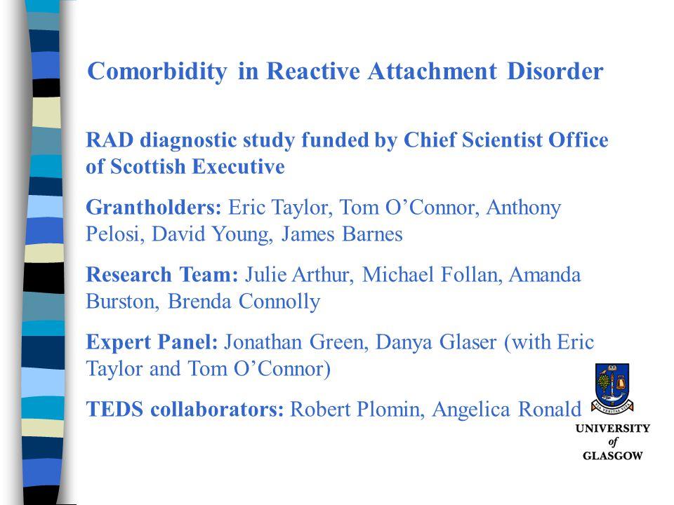 Comorbidity in Reactive Attachment Disorder