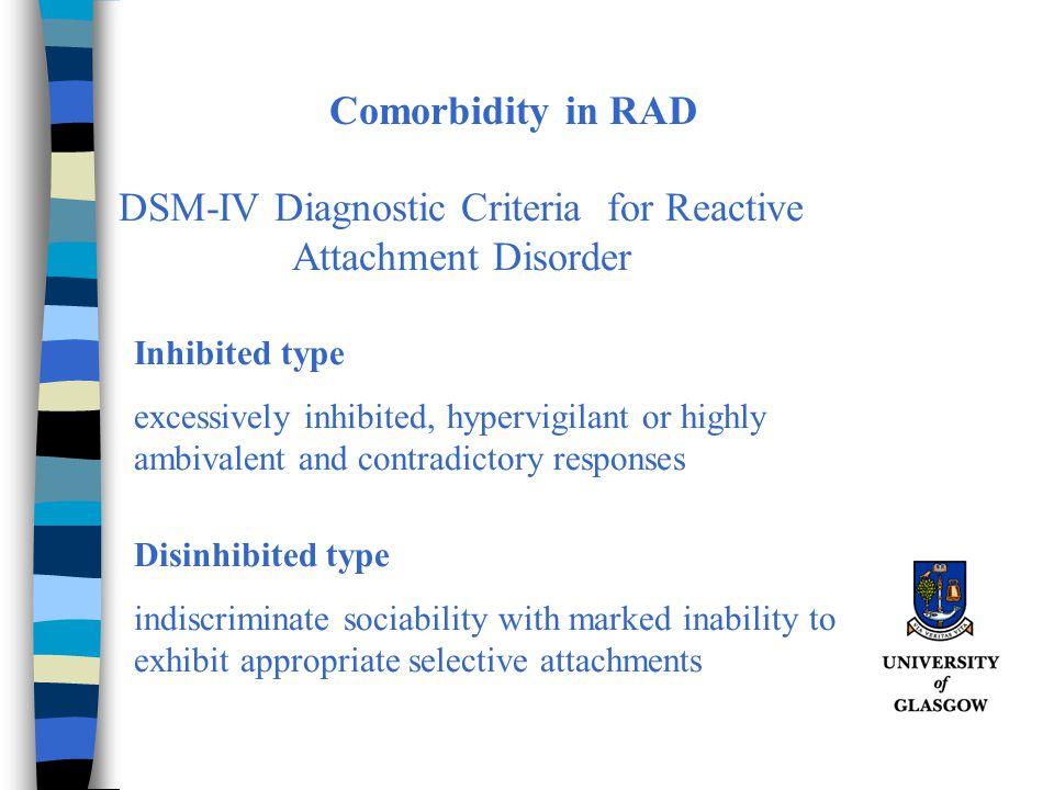 DSM-IV Diagnostic Criteria for Reactive Attachment Disorder