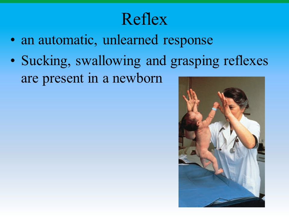 Reflex an automatic, unlearned response
