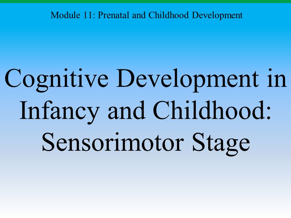 Cognitive Development in Infancy and Childhood: Sensorimotor Stage