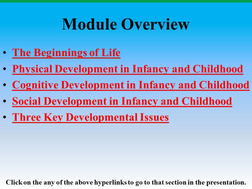 Module Overview The Beginnings of Life