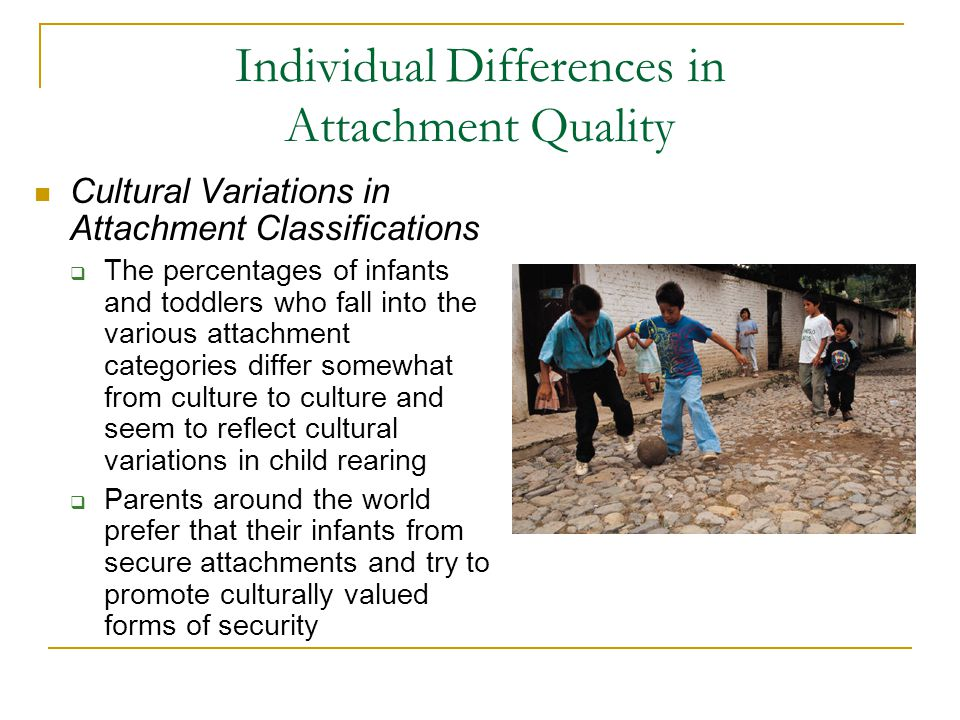 Individual Differences in Attachment Quality