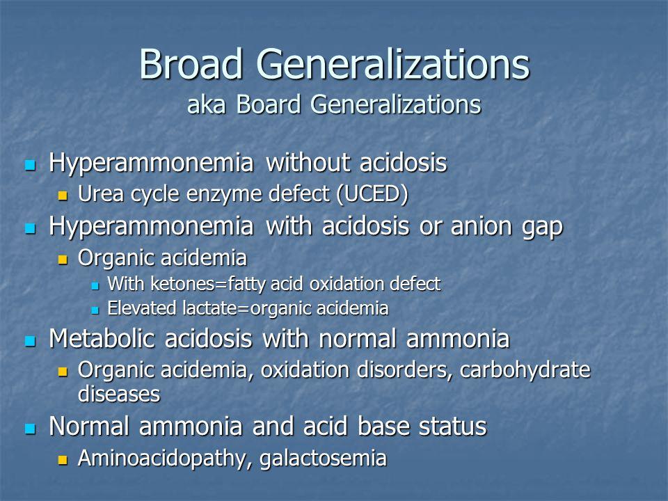 Broad Generalizations aka Board Generalizations
