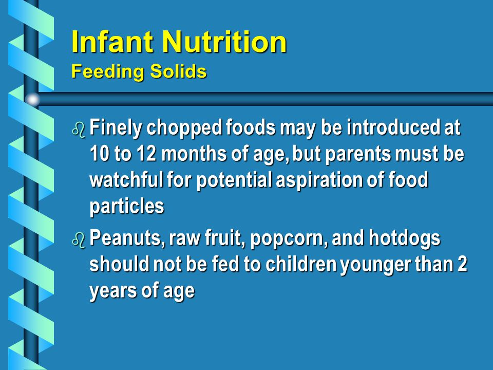 Infant Nutrition Feeding Solids