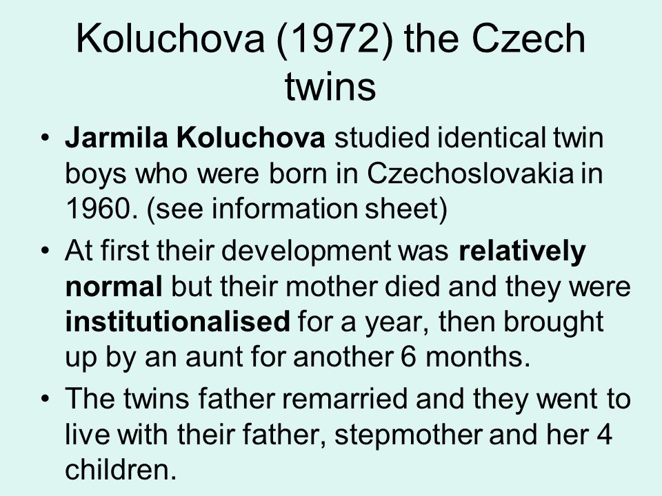 Koluchova (1972) the Czech twins