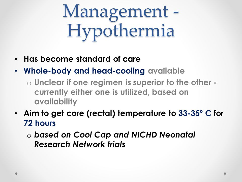 Management - Hypothermia
