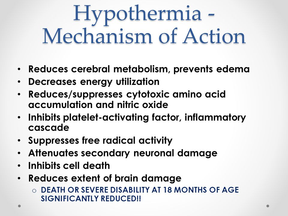 Hypothermia - Mechanism of Action