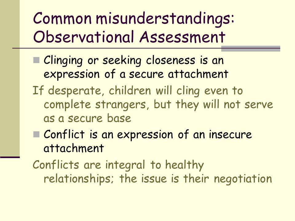 Common misunderstandings: Observational Assessment