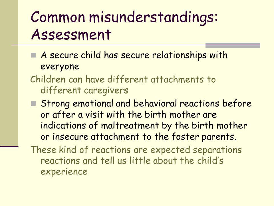 Common misunderstandings: Assessment