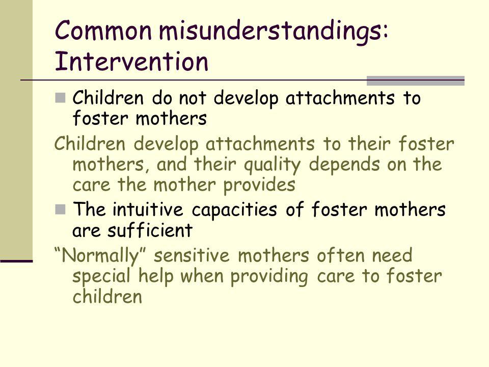 Common misunderstandings: Intervention