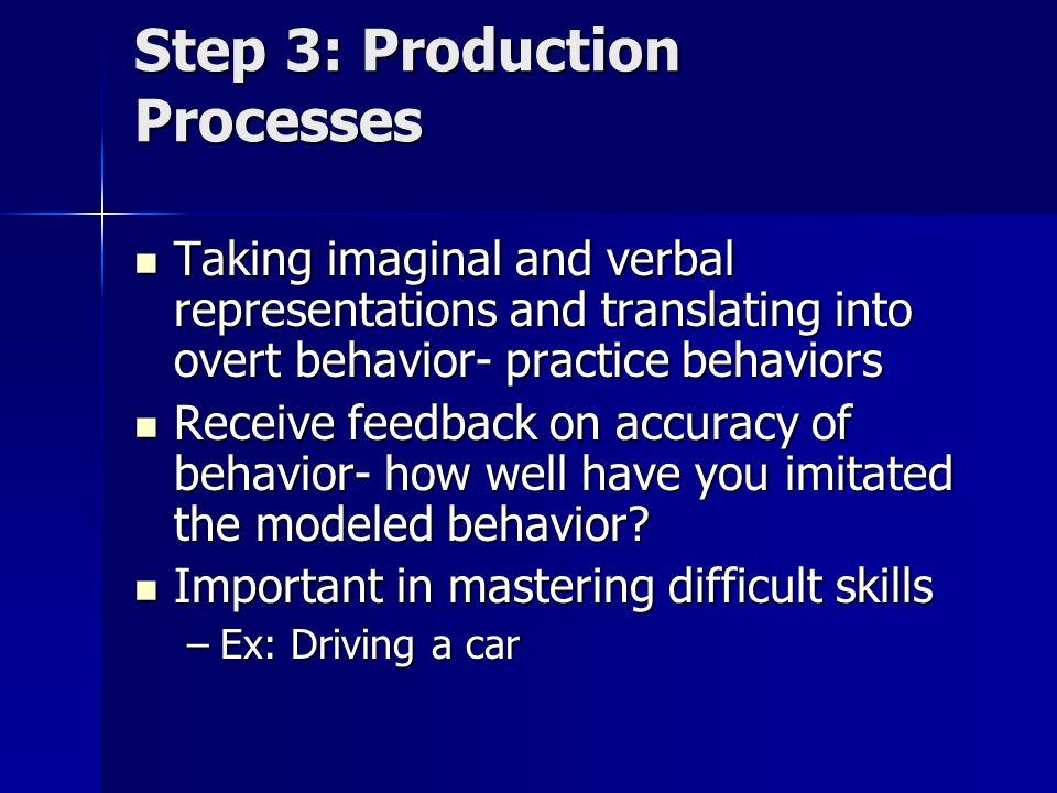 Step 3: Production Processes