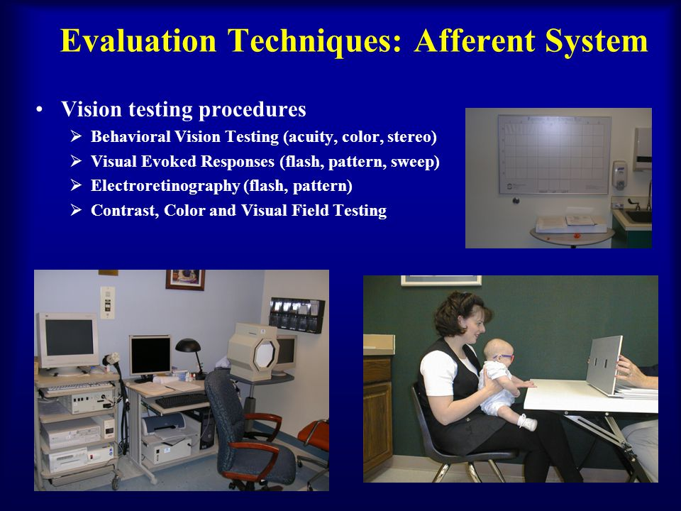 Evaluation Techniques: Afferent System