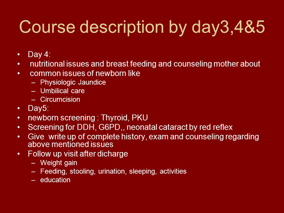 Course description by day3,4&5