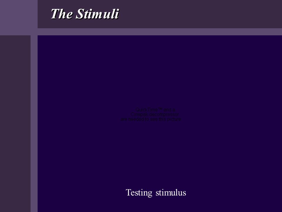 The Stimuli Testing stimulus