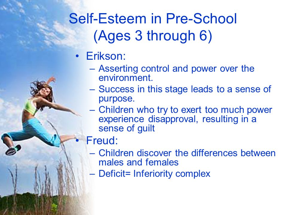 Self-Esteem in Pre-School (Ages 3 through 6)