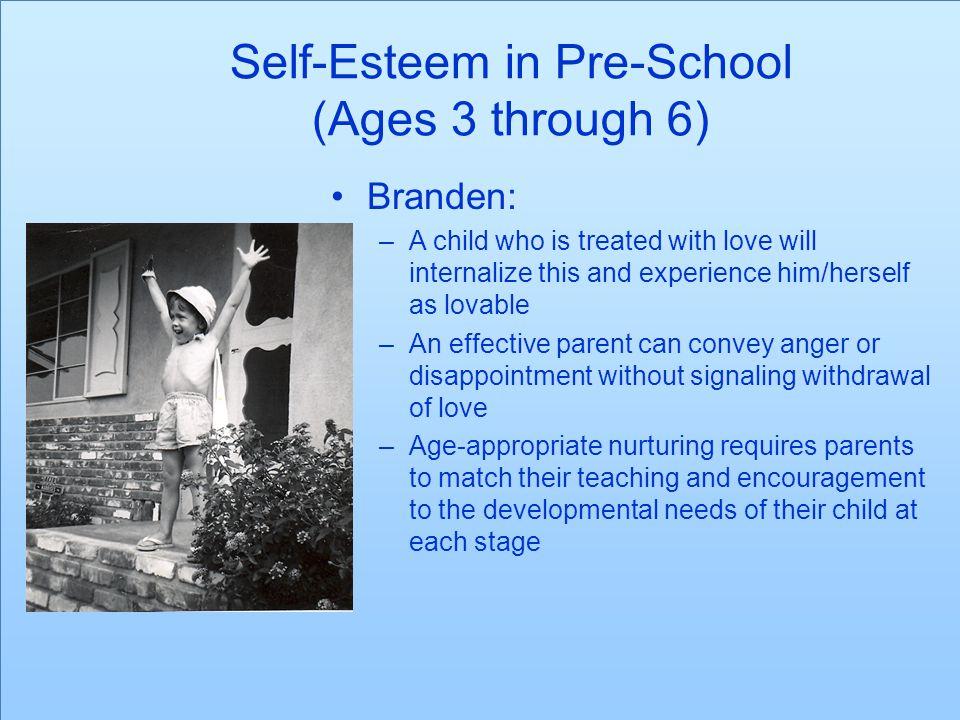 Self-Esteem in Pre-School (Ages 3 through 6)