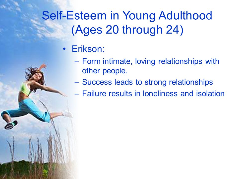 Self-Esteem in Young Adulthood (Ages 20 through 24)