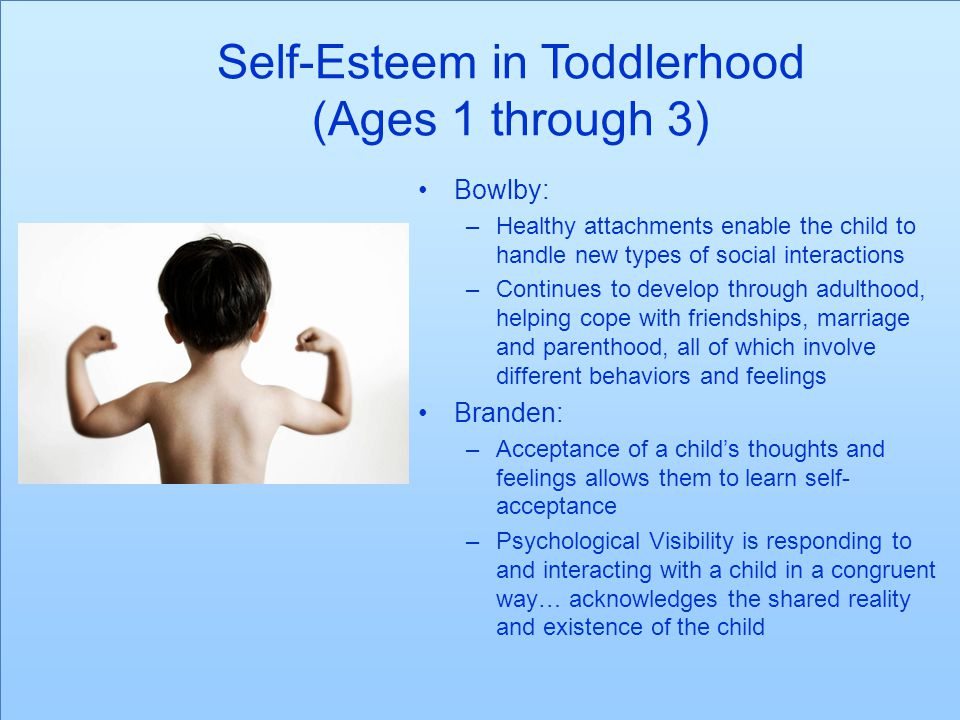Self-Esteem in Toddlerhood (Ages 1 through 3)