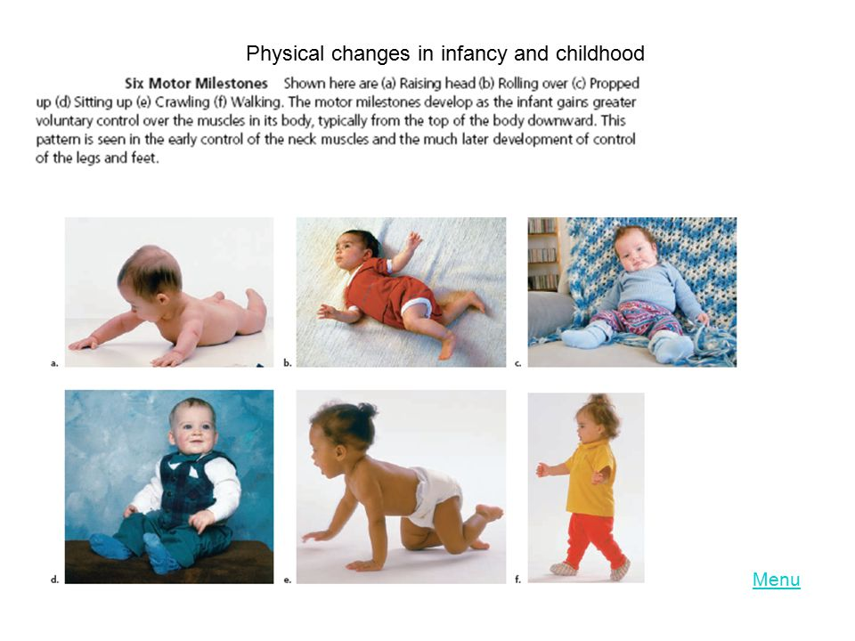 Physical changes in infancy and childhood
