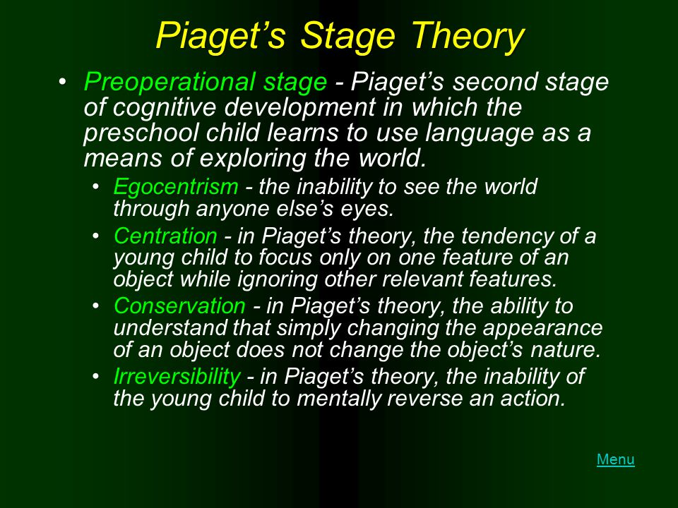 Piaget's Stage Theory