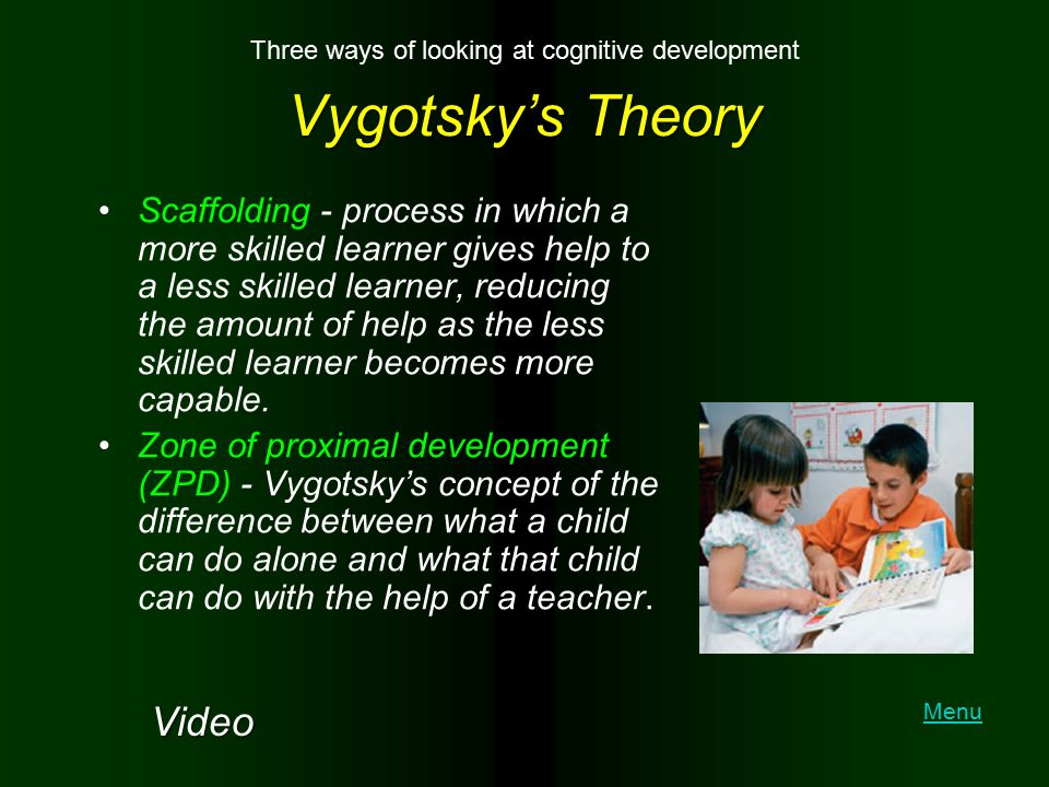 Three ways of looking at cognitive development