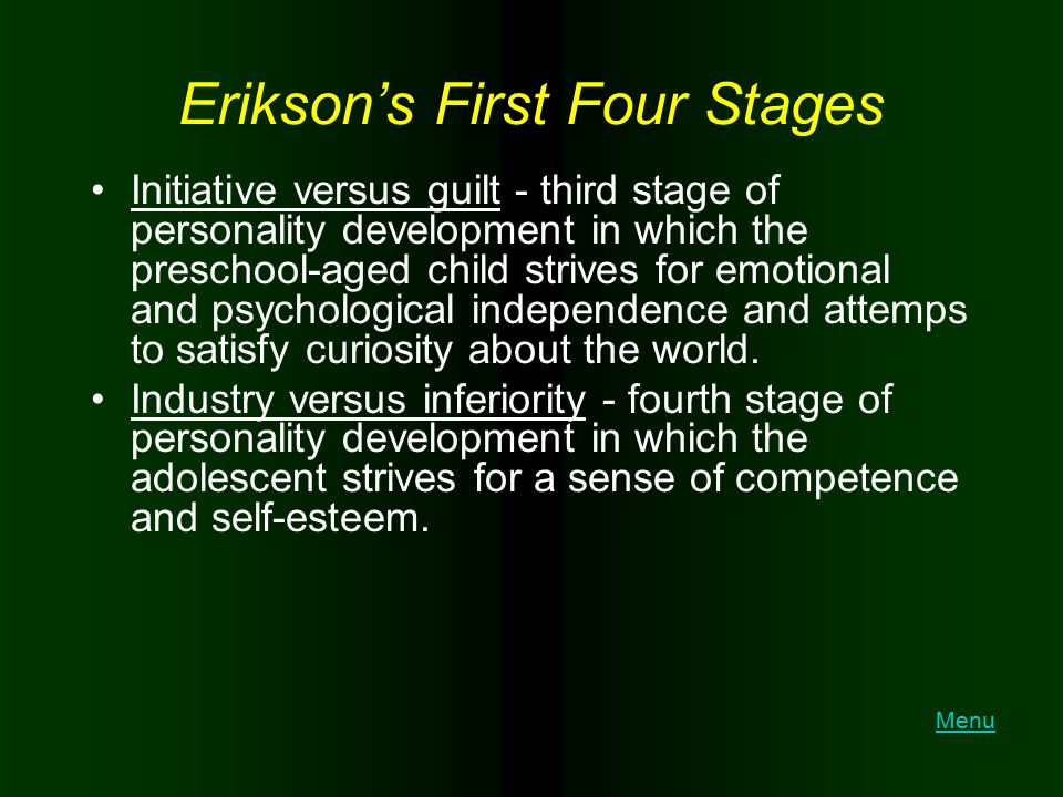 Erikson's First Four Stages